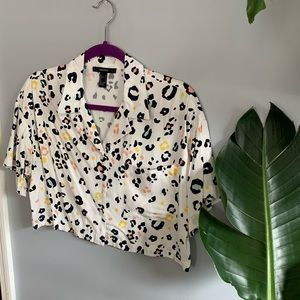 Pastel Leopard Crop Top